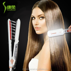 KangRoad 2018 Newest Steam&ultrasonic Infrared Hair Straightener Iron China Manufacture Infrared Hair Flat Iron