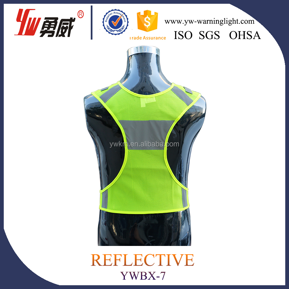 Economic and Efficient Fluorescent Safty Reflective Vest For Road Safety&ampsports Safety--- With Good Quality