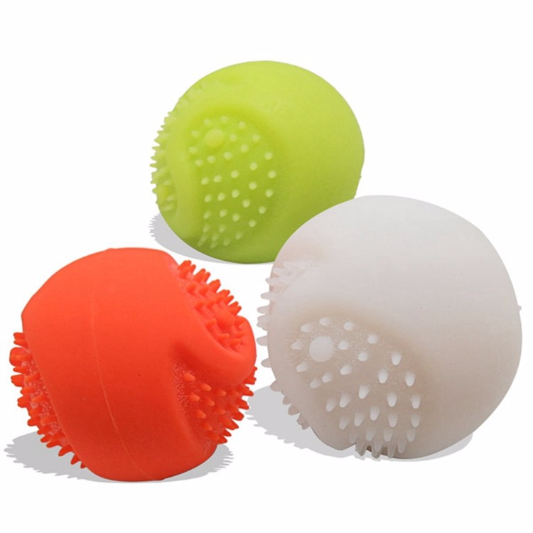 USB Pet Smarter Interactive IQ Toys High Visibility LED Light Dog Balls for Pet's Night Play