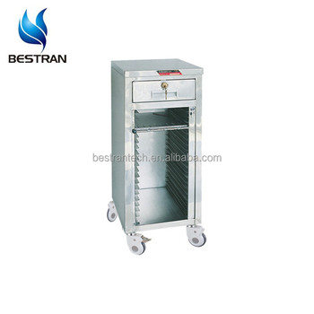 BT-CHY004 Hospital Patient File Trolley Medical Records Cart With Wheels