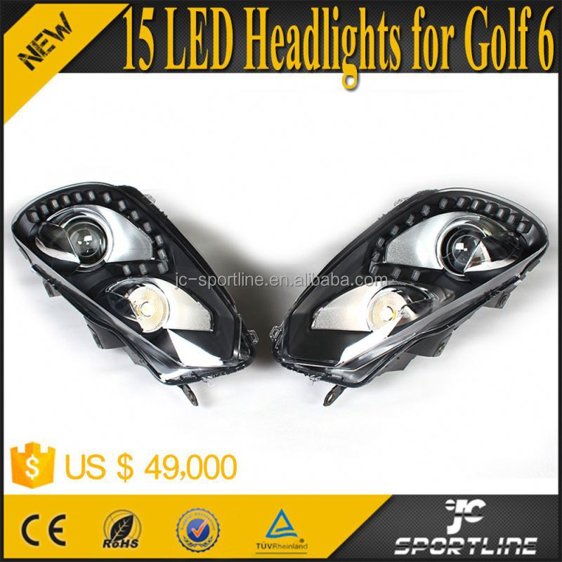 High Power 15 LED Lamps MK6 R20 Headlights For Volkswagen VW GOLF 6 VI MK6