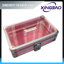 Pink promotional mini cosmetic case,styling easy cosmetic case,aluminum cosmetic case