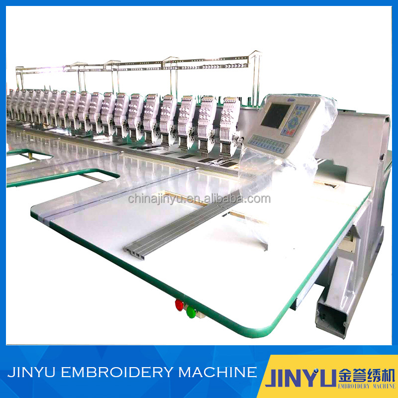 JINYU 6needles and 19 heads flat computerized embroidery machine without cut