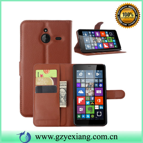 Book Style Leather Flip Cover For Microsoft Lumia 640XL Back Cover