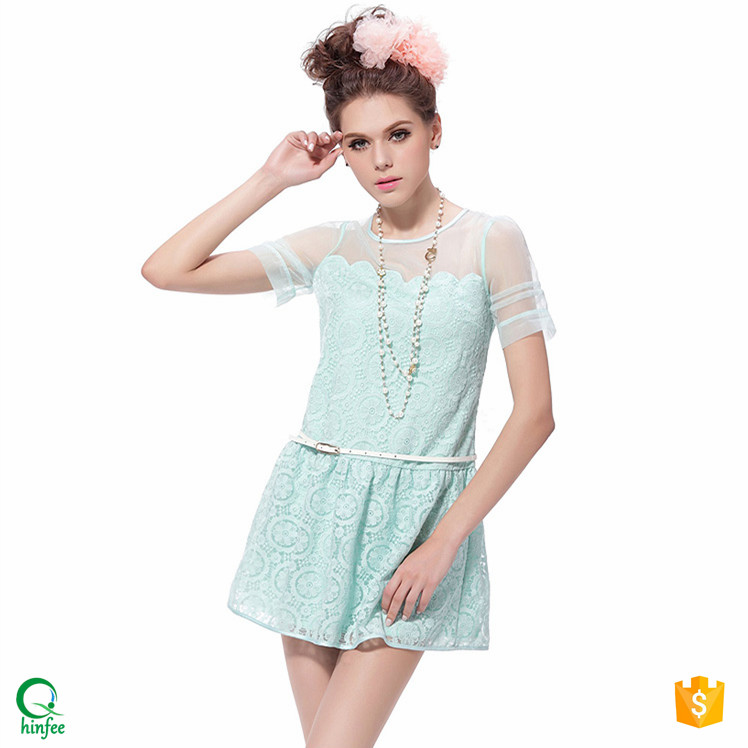 D061 Summer Sexy Fashion Lace Alibaba Girls Party Dresses