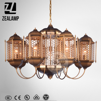 Church lantern chandelier 8 heads with hexagon net shade vintage church lantern chandelier 8 heads with hexagon net shade vintage cage lighting mozeypictures Image collections