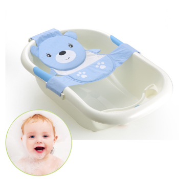 Adjustable Cartoon Newborn Baby Bathtub Sling Bath Seat Kneeler ...