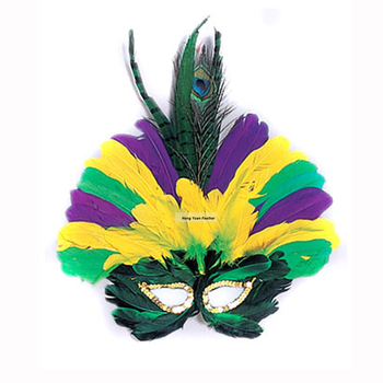 China Wholesale 2016 Promotion CM-52 Mardi Gras Peacock Feather Masks