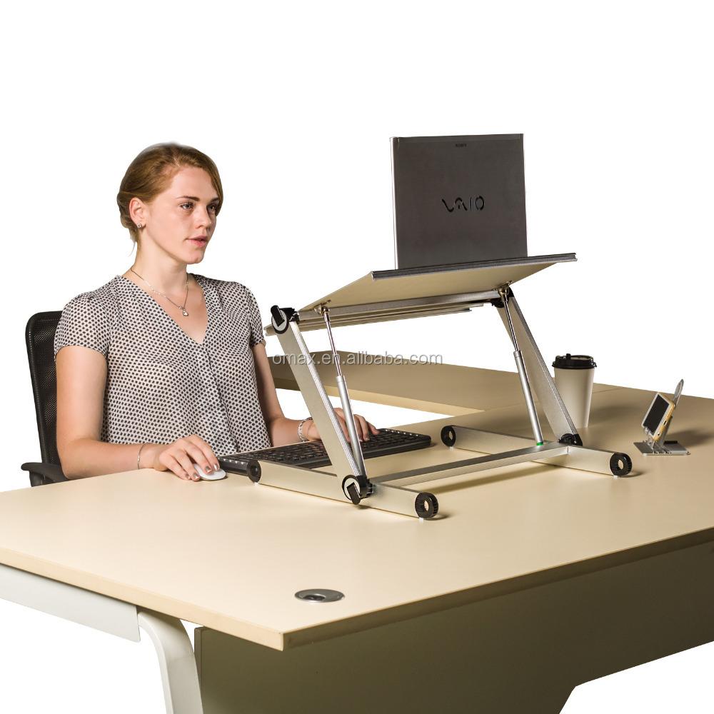 Schon Folding Einstellbare Große Laptop Computer Tisch Steh Schreibtisch Für  Monitor Und Imac