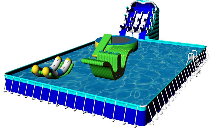 เหนือพื้นดินเหล็กกรอบสระว่ายน้ำน้ำสระว่ายน้ำกลางแจ้งขายส่ง