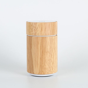 Nebulizing Diffuser K602 Wood New Fashion Wood Grain Ultrasonic Rechargeable Essential Oil Diffuser With Clock