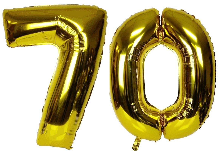 Днем рождения, картинка с цифрой 70
