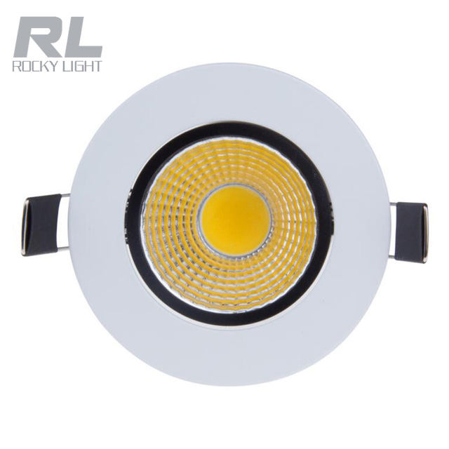 5w COB led ceiling Recessed spot light cool white high brightness led down light with AC85-265V