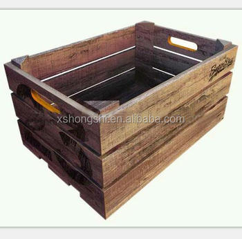 Awesome Natural Wooden Fruit Vegetable Crate Boxes ,Rack,wooden Storage Boxes
