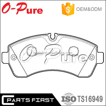 Wholesale Auto Less Metallic Semi Metallic Ceramic Front Brake Pad D1268  For Mercedes Benz