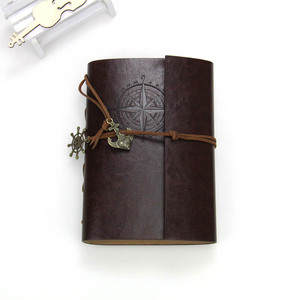 Leather Writing Journal Notebook, Antique Handmade Leather Bound Travel Daily Notepad Vintage Notebook with PU Cover