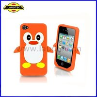 Penguin Silicone Case For Apple iPhone 4/4s,Cute soft Case Cover,All Colors are Avialable----Shenzhen Laudtec
