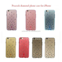 How to clean tpu case,phone case for iphone 6S,Peacock diamond tpu case