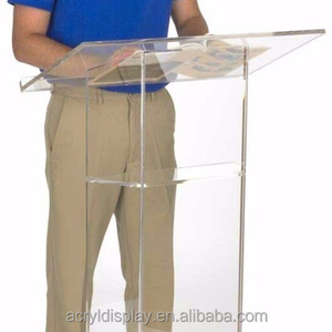 Factory Customized High Quality Clear Acrylic Lucite Church Podium Pulpit Lectern