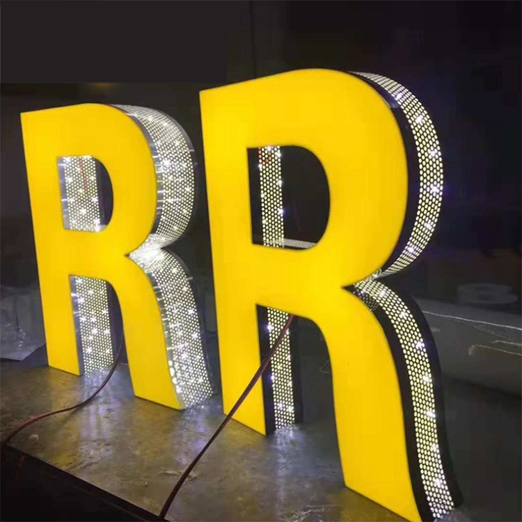 NEW Fashion Light DIY Punching holes Led Channel Letters backlit led channel letter sign / Famous Advertising Company Sign