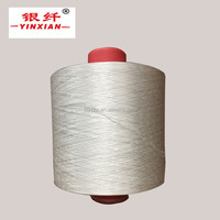 100% polyester yarn dty polyester trilobal bright yarn raw white