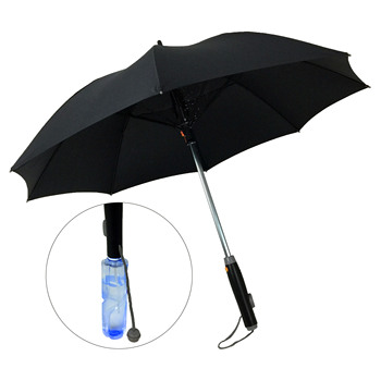 Outdoor Mist Cooling Fan Umbrella With Fan And Water Spray
