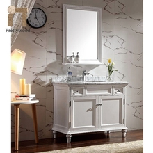 Floor Mounted Corner White Lacquer Modern Bathroom Vanity With Sink