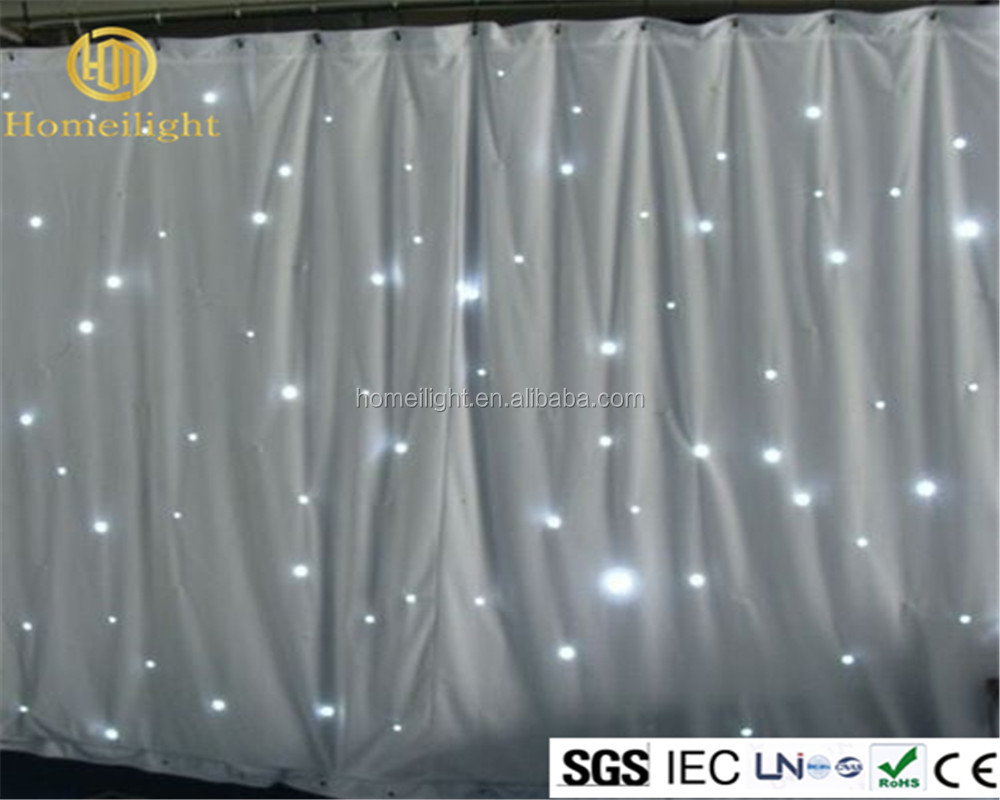 3*6M LED Star Curtain Twinkling White Light Backdrop For Wedding Events Backdrop