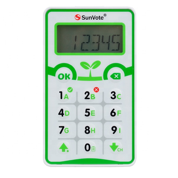SunVote classroom clickers  suits in education