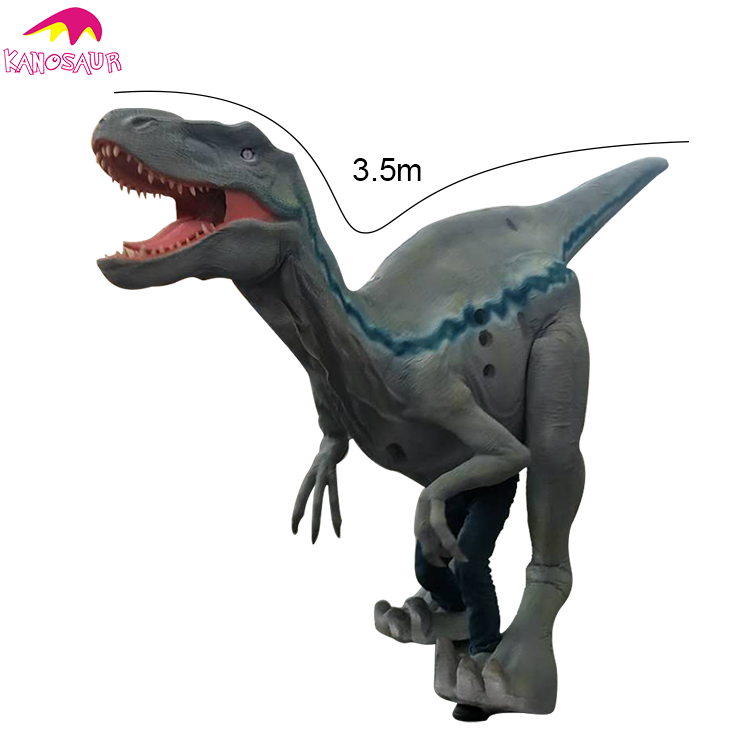 kano 171 jurassic world life size realistic blue raptor costume
