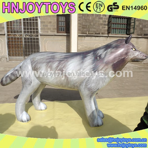 Kids inflatable wolf toy, inflatable life size toy wolves