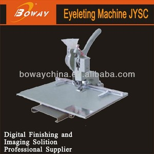 Boway service JYSC punch machine with steel eyelet for tarpaulin