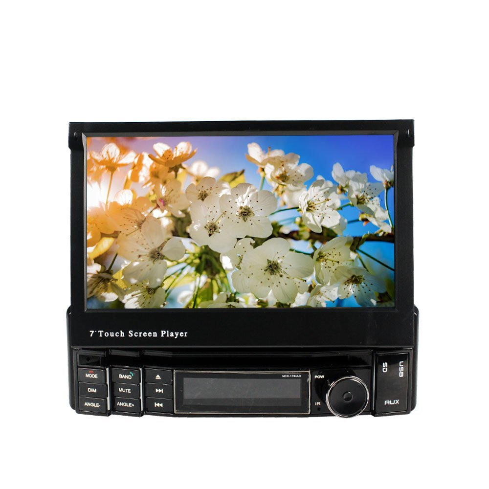 7 inch 16:9 TFT HD Digital Touch Screen Fixed Panel Compatible with DVD//CD/MP4/DIVX/MP5/MP4,Built-in Bluetooth Car Multimedia Player