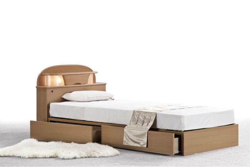 하나의 나무 침대 디자인 서랍 심플한 디자인 나무 침대 침실 ...