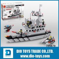 building block bricks construct toy aircraft carrier toy block
