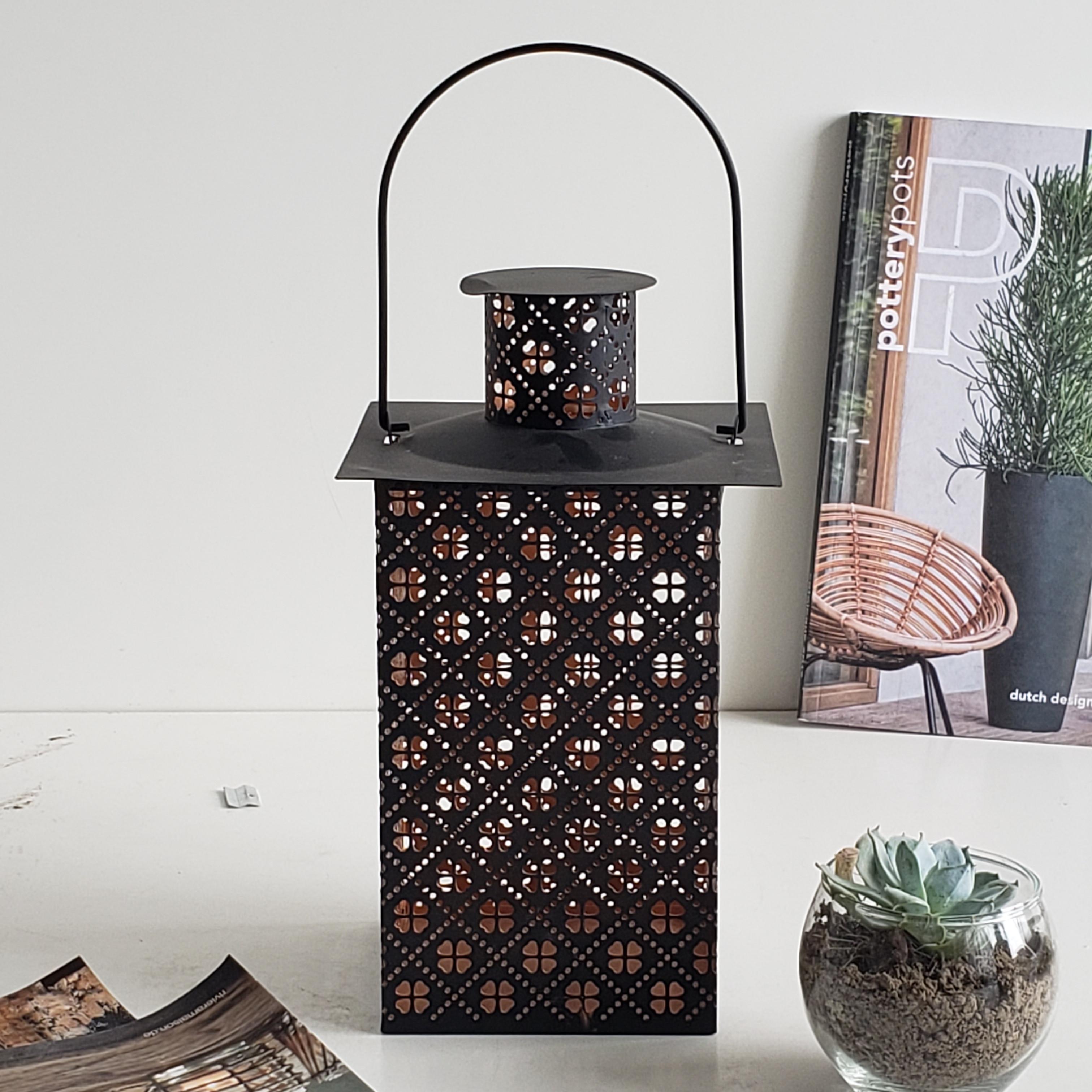 Vintage Lentera Grosir Solar Metal Badai Lentera Vintage Mini Teh Lilin Lampu Hias Led Dekoratif Lentera