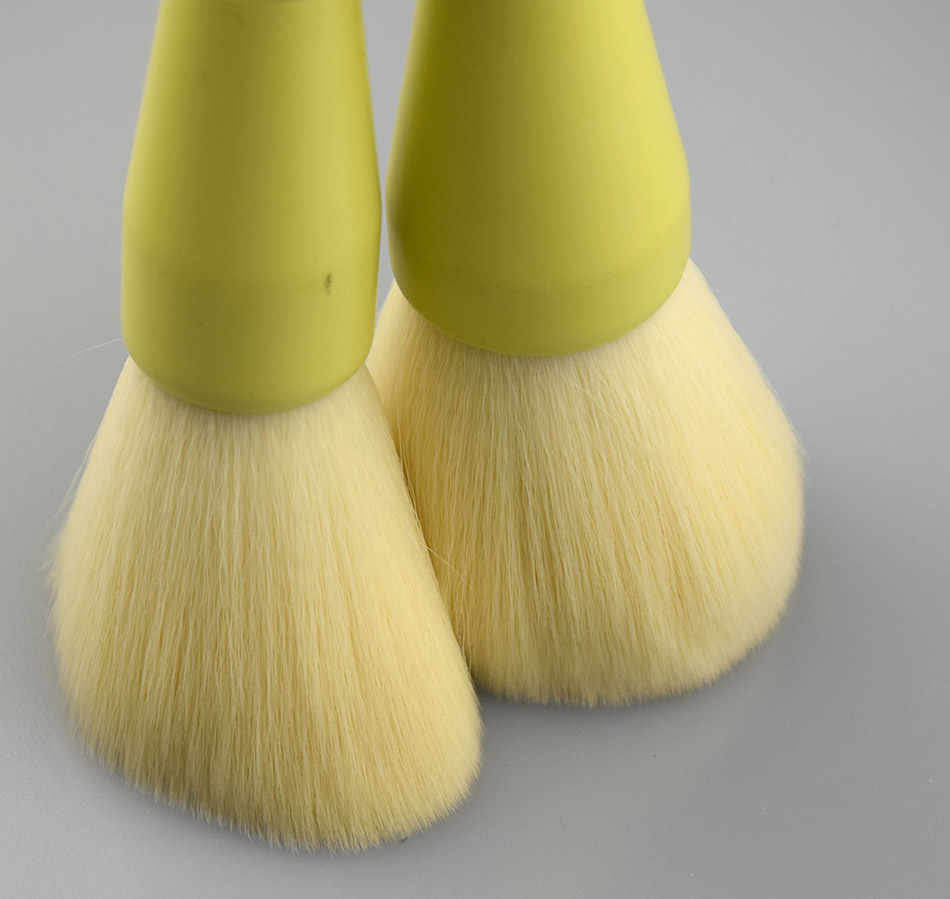 10pcs gradient ramp handle yellow best brush sets for makeup yellow to pink wood hanld yellow makeup brushes