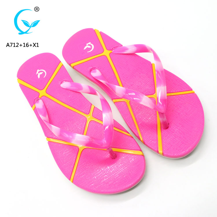 Sublimation flip-flops pvc folding maoli slipper ladies chappal beach