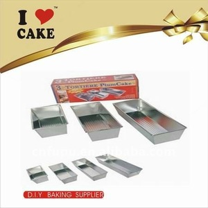 4pcs metal plum cake mould