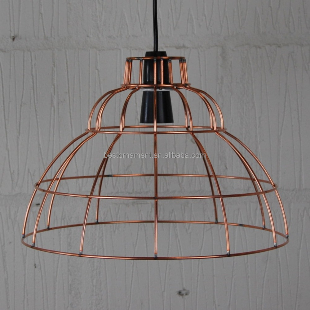 Industrial Vintage Metal Wire Pendant Light Cafe Bar Cage Lighting