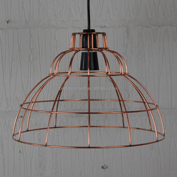 industrial vintage metal wire pendant light cafe bar cage lighting rh alibaba com