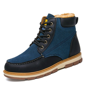 Autumn and winter men's casual high-top shoes trend Martin boots warm men's boots cross-border large size men's shoes 39-46