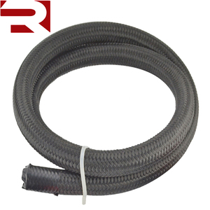 Black Stainless Steel Nylon Braided AN6 AN 6 Oil Fuel Line Hose