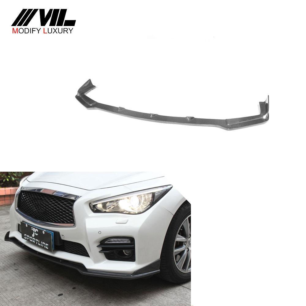 Carbon Look Rear Lip Bumper Valance Diffuser For Infiniti Q50 Q60 Q70 G25 G37