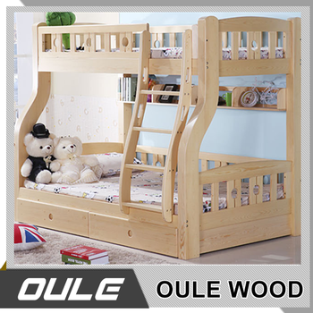 Wholesale Bedroom Furniture Wood Bunk Bed With Stairs For Children