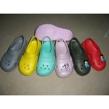 2014 EVA white children kid animal garden clogs