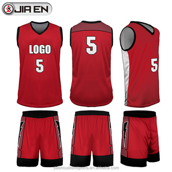 c702c7611582 Jiaen sportswear basketball jersey uniform wholesale sublimation red  basketball jerseys