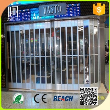 Transparent Shop Front Folding Doorcommercial Entry Doorsplastic