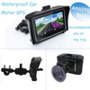 RIDER 4.3 inch Waterproof Motorcycle GPS Navigator with Lifetime USA, Canada, Europe, India map