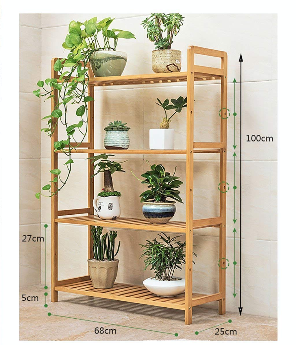 Chairs FL Pergolas/flower racks Multi-storey floral display Multi-function indoor/outdoor wood flower stand Simple modern style flower stand flower display stands (Size : 6825100cm)